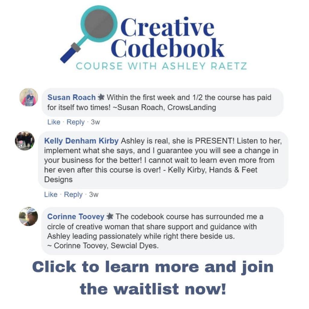 testimonials of creative codebook course
