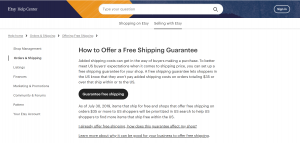 Etsy is offering free shipping tools to help online sellers.