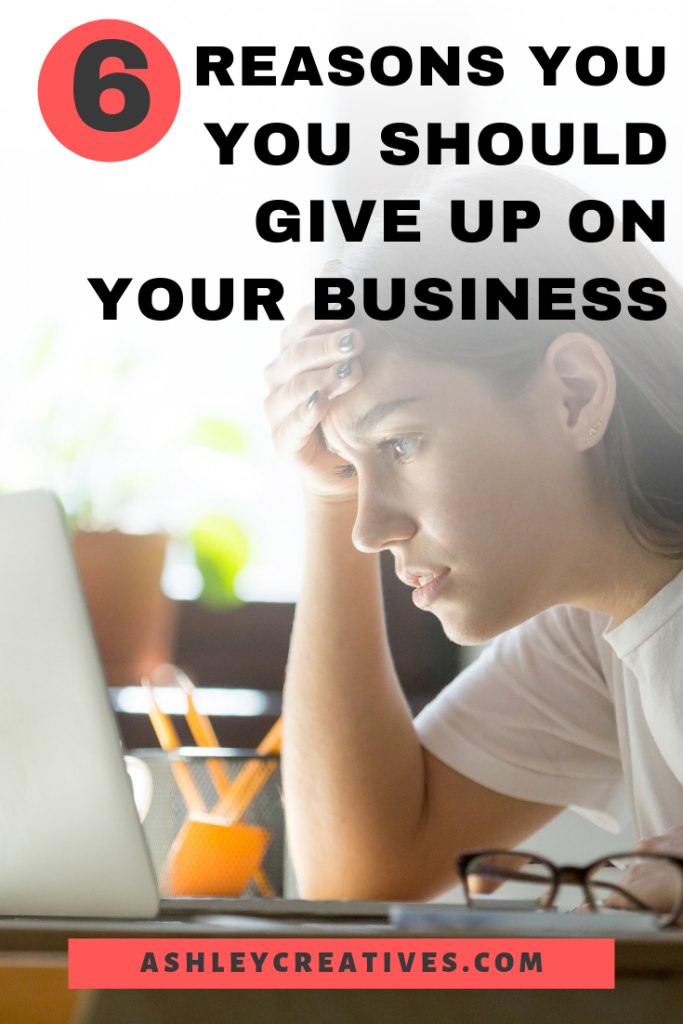 Woman frustrated and ready to give up on business.